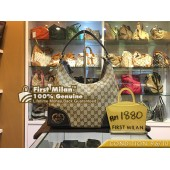 GUCCI Lovely Heart Shape Interlocking G Hobo