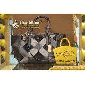 COACH Crosby Carryall Patchwork Black Suede