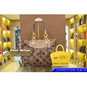 COACH Ashley Gathered Dohed Op Art Carryall