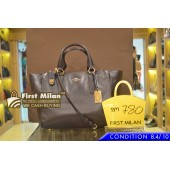 COACH Smooth Leather Carryall Bag In Brown