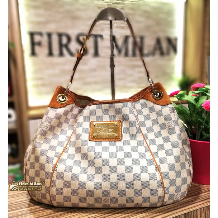 LOUIS VUITTON Damier Azur Canvas Galliera PM 48a6d984556da