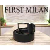 SALVATORE FERRAGAMO Black Leather Belt (Size:95)