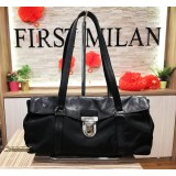 PRADA Tessuto Vitello Nero Shoulder Bag