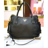 PRADA Vitello Daino Leather Sacca 2 Manici Hobo