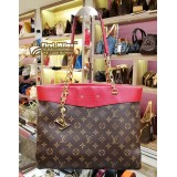 LOUIS VUITTON Monogram Canvas Pallas Shopper Bag With Keycharm