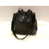 LOUIS VUITTON Epi Leather Petit Noe In Black