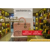 CHRISTIAN DIOR Lady Dior Large Baby Pink