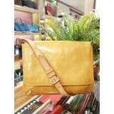 LOUIS VUITTON Vernis Jaune Yellow Shoulder Bag
