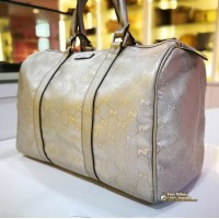 GUCCI Joy Boston Bag In Metalic Silver