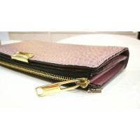 BURBERRY Alvington Grain Leather Continental Wallet