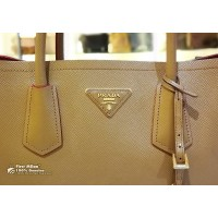 PRADA Saffiano Leather Double Handle Tote