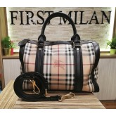 BURBERRY Haymarket Check Bowling Bag