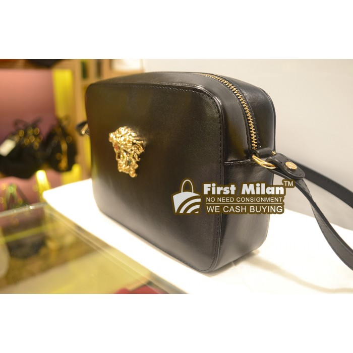 39a5635a89fd VERSACE Palazzo Calf Leather Shoulder Bag