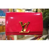 LOUIS VUITTON Patent Leather Louise Clutch Bag