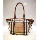 BURBERRY Bridle House Check Small Salisbury Tote