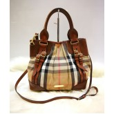 BURBERRY Bridle House Check Small Tote