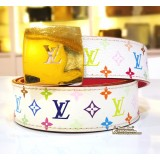 LOUIS VUITTON Cut 30MM Reversible Monogram Multicolore Belt
