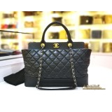 CHANEL Black Quilted 2Ways Tote Bag
