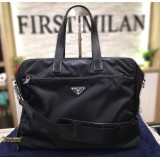 PRADA Nylon Black Messenger Crossbody Bag