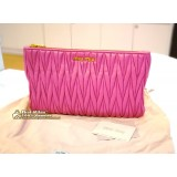 MIU MIU Matelasse Zipped Leather Clutch