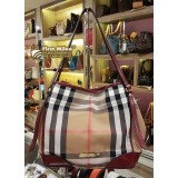 BURBERRY Bridle House Check Small Canterbury (Red Claret)