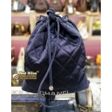CHANEL Suede Drawstring Mini Backpack