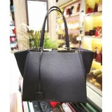 FENDI 3 Jours Shopping Bag In Black