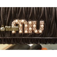 MIU MIU Matelasse Nappa Leather Wallet