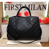 LOUIS VUITTON Monogram Empreinte Montaigne Noir MM
