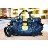 MIU MIU Covnflower Blue Vitello Lux Bag