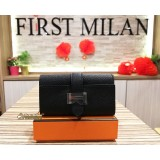 HERMES Bearn 4 Key Holder Black Epsom Leather SHW