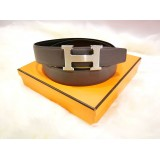 HERMES H Belt Buckle & Reversible Leather Strap (size: 32/100)