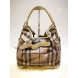 BURBEERY Smoked Check Medium Hobo