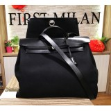 HERMES Herbag Canvas Black Color
