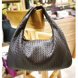 BOTTEGA VENETA Dark Barolo Intrecciato Nappa Large Bag
