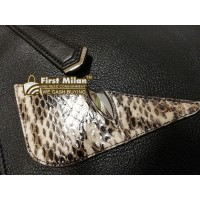 FENDI Python Leather Monster Bugs Clutch Bag