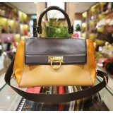 SALVATORE FERRAGAMO Sofia Medium Tri-Color Leather Bag