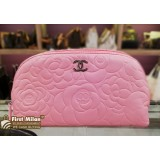 CHANEL Camellia Cosmetic Pouch Bag