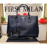 PRADA Saffiano Lux Double Zip Baltico Bag
