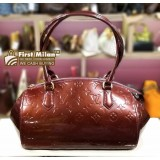 LOUIS VUITTON Amarante Monogram Vernis Sherwood PM