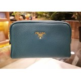 PRADA Vitello Daino Ottanio Cosmetic Pouch Bag