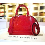 LOUIS VUITTON Monogram Vernis Alma BB In Indian Rose