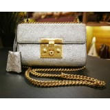 GUCCI Padlock Small Metallic Shoulder Bag