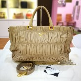 PRADA Nappa Gaufre Shopping Tote Bag