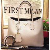 PRADA Saffiano Leather Double Handle Tote Bag
