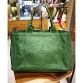 PRADA Full Leather Green Tote Bag