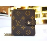 LOUIS VUITTON Monogram Canvas Compact Wallet