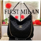 CHANEL Quilted Caviar CC 2ways Chain Tote