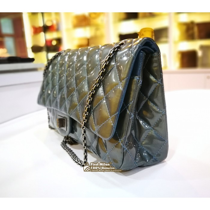6348144d63a2d5 CHANEL 2.55 Reissue 227 Quilted Patent Leather