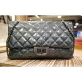 CHANEL 2.55 Reissue 227 Quilted Patent Leather